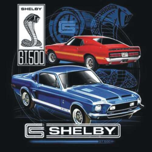 BRAND NEW OFFICIAL SHELBY COBRA GT 500 FORD T-Shirts Small to 5XL BLACK or WHITE