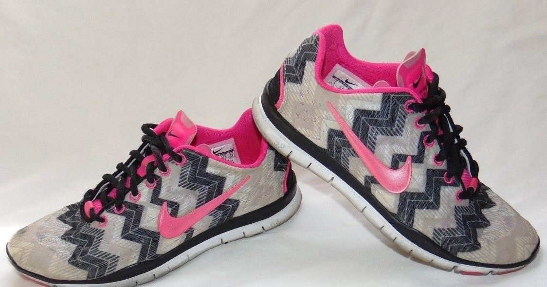 Womens Black & Print Print NIKE FREE TR FIT 3 6 Athletic Sneakers Shoes Sz 6 3 9aeeca