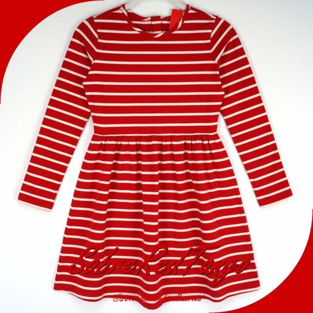 NWT HANNA ANDERSSON ELISABET DRESS HANNA RED ECRU 160 14