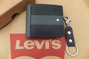 Levi-039-S-Cuero-Billetera-Llavero-amp-Conjunto-de-Regalo-Bi-Fold-2in1-en-Caja-Billeteras-Nuevo-Y-En