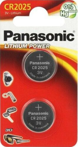 1x2er Blister 3V CR-2025EL//2B 2x Panasonic Knopfzelle Lithium CR2025