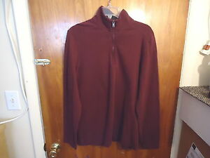 Mens-Apt-9-M-Maroon-Long-Sleeve-Pullover-Shirt-034-BEAUTIFUL-SHIRT-034