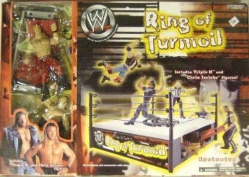 WWE WWF  Ring Of Turmoil  Gift Set Triple H,Chris Jericho And Grapple Gear MISB