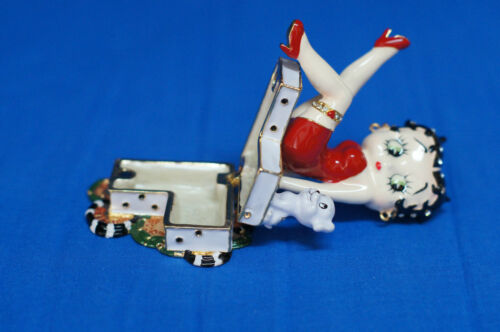 Betty Boop Hinged Metal Treasure Box LE Set of 6 Different Figurines PHB Retired