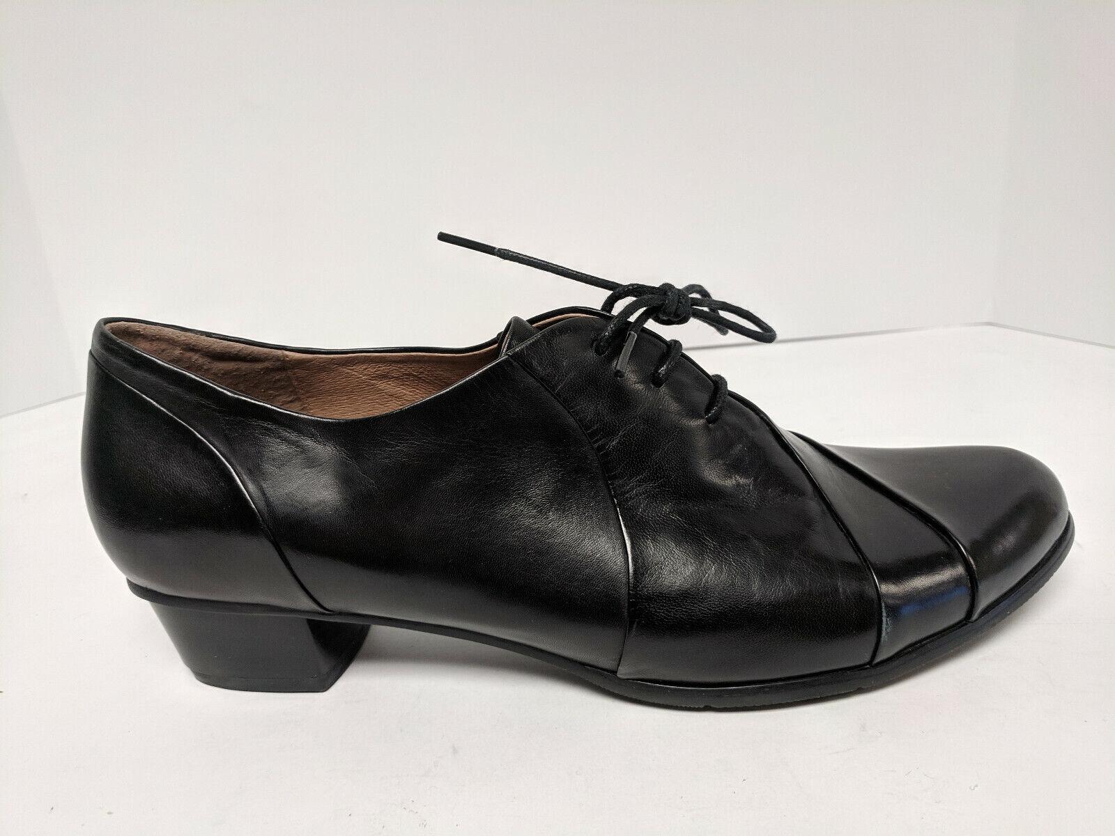 Spring Step Elvera Leather Oxford, Black, Womens 42 EU (US 10.5-11)