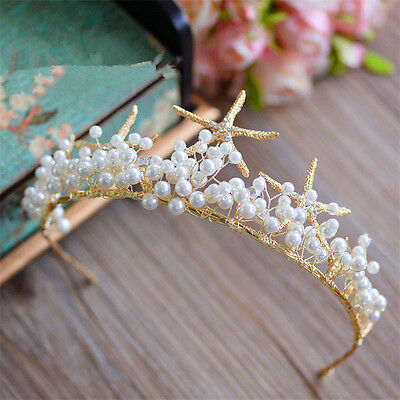 Mermaid Starfish Headband Hair Band Wedding Bridal Crown Tiara Jewelry Headpiece