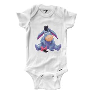 Eeyore Gloomy Donkey Cute Infant Gerber Onesies Bodysuit One-Pieces Baby Gift