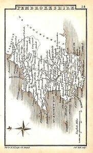Antique-map-Pembrokeshire