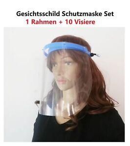Schutzmaske Visier Gesichtsschild Set Infektions- und Spuckschutz für Arzt Labor