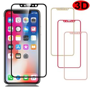 on sale 9ac06 26612 3D For iPhone X/Xs X Max/XR Full Coverage Tempered Glass Screen ...