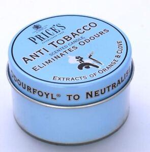 PACK-of-3-Price-039-s-ANTI-TOBACCO-Candle-in-Tin-Eliminates-SMOKING-Odour-FR110316