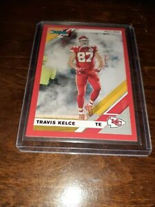 TRAVIS-KELCE-2019-Donruss-RED-PRESS-PROOF-Variation-2v-Kansas-City-Chiefs-MINT