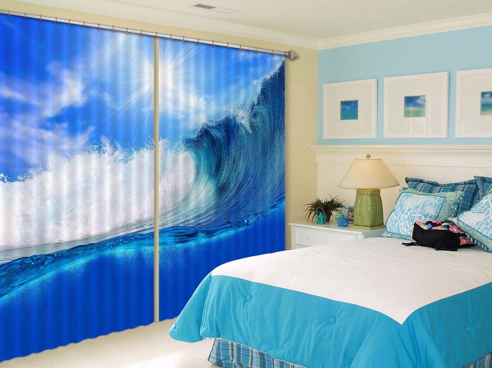 3d SURF cielo 68 blocco foto sipario pressione sipario tende tessuto finestra de
