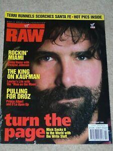 WWF-MAGAZINE-RAW-FEBRUARY-2000-WRESTLING-MICK-FOLEY-COVER-WWE-MANKIND