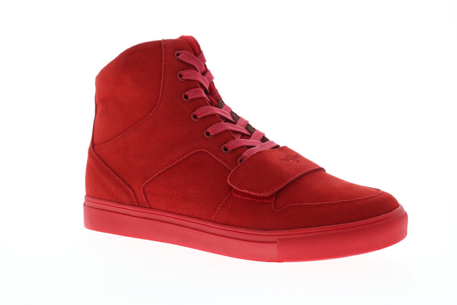 Creative Recreation administrar X Para Hombre Rojo Ante Zapatos Tenis altas con cordones