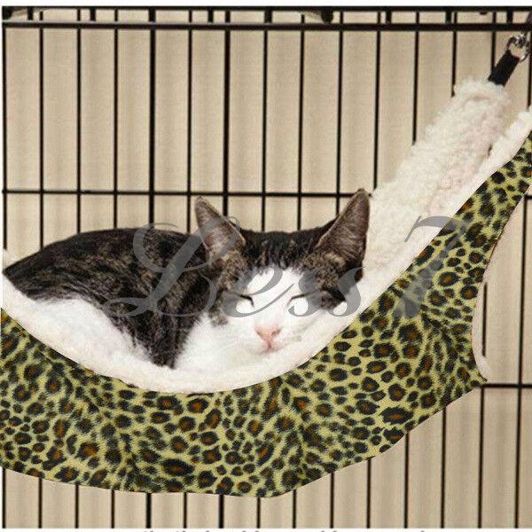 New Cat Kitten Hanging Hammock Bed Pad Cat Cage Comforter Ferret Large L