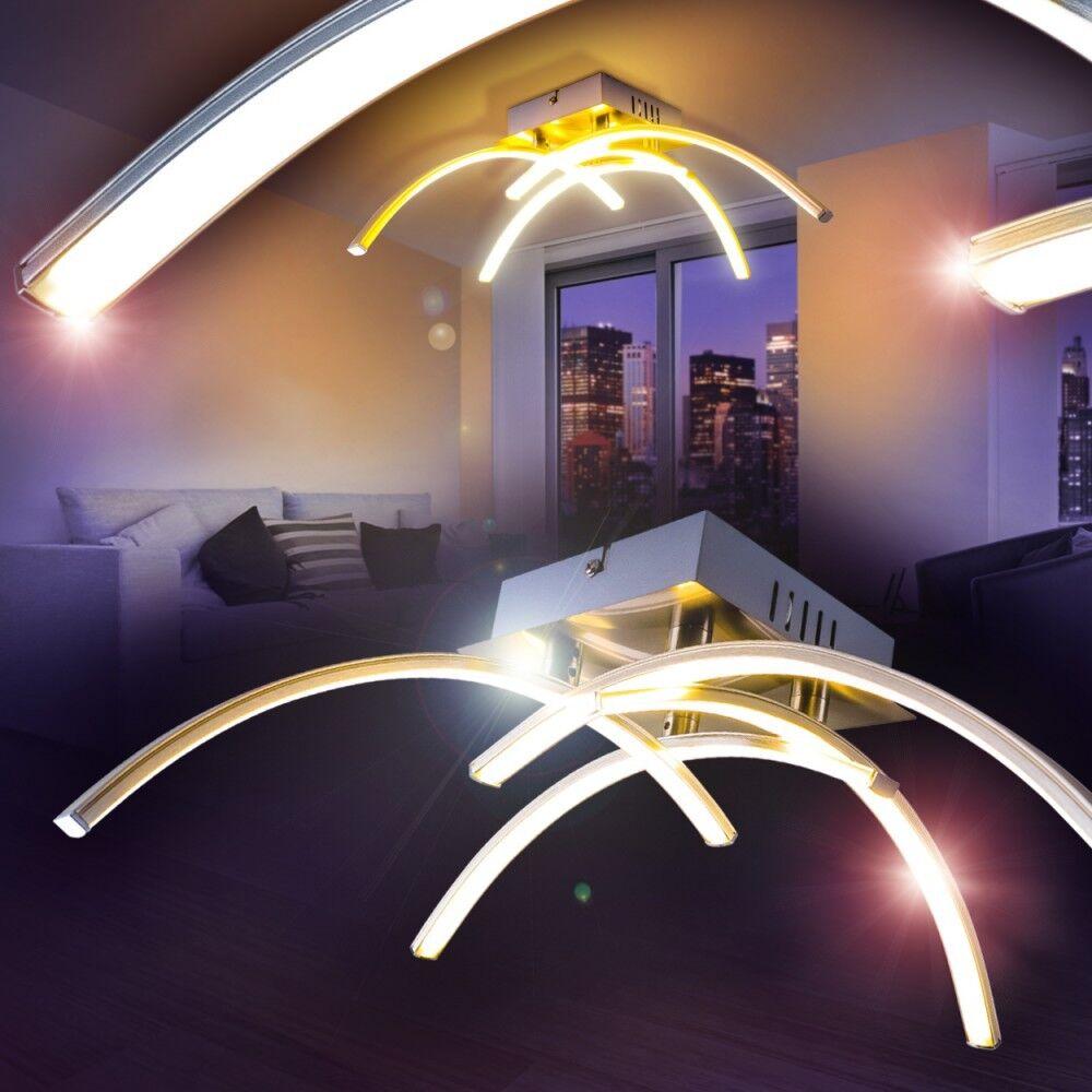 LED Lámpara de techo estilo moderno metal Farbe cromo comedor dormitorio pasillo