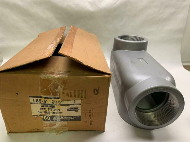 "Red Dot ALB-9 Conduit Body LB 3-1//2/"" Threaded ALB9 Die Cast Aluminum T/&B New"