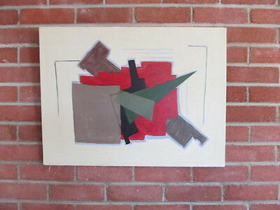 LISTED ARTIST painting ABSTRACT modernist fine art Dr. BENJAMIN L. Gross VINTAGE