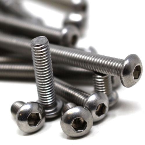 M3 A4 de grado marino Inoxidable Socket botón Cabeza Tapas Tornillos Allen screws//bolts