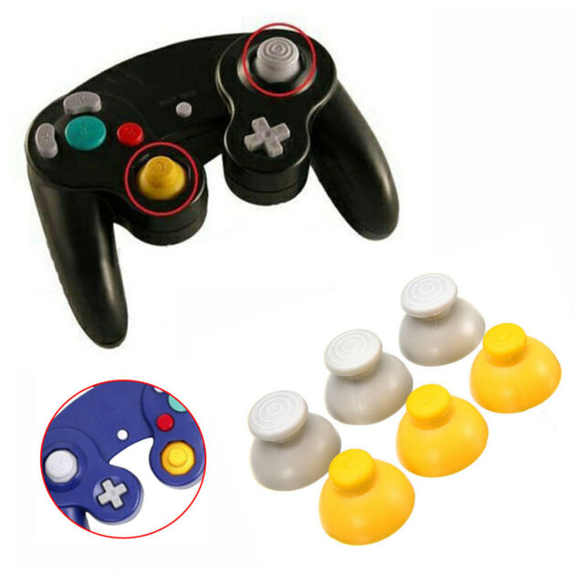 3 Pairs Replacement Analog Stick Thumb Caps For Nintendo GameCube Controller Kit