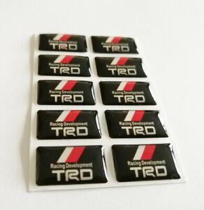 Toyota-TRD-3D-abovedado-Insignia-Logo-Emblema-Pegatina-Grafico-Calcomania-Tuning-Sport-Supra