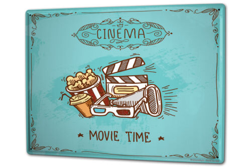 Tin Sign XXL Star Cinema popcorn metal plate plaque