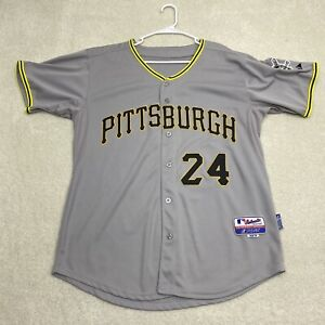 Pittsburgh Pirates MLB Majestic Authentic Collection Jersey Men's Size 50 Pedro