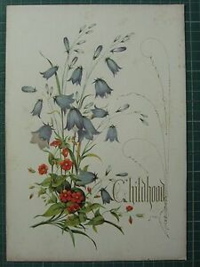 1848 PRINT HARE-BELL AND PIMPERNEL CHILDHOOD FLOWERS AND THEIR KINDRED THOUGHTS