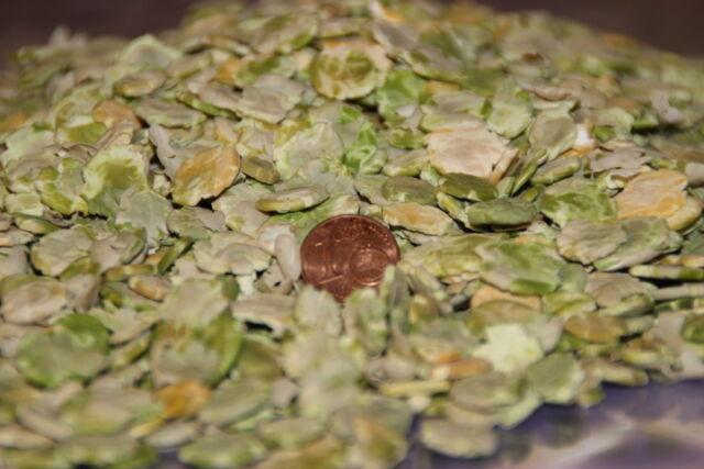 500 gramm Erbsenflocken grün gelb Nagerfutter Erbsen gewalzt