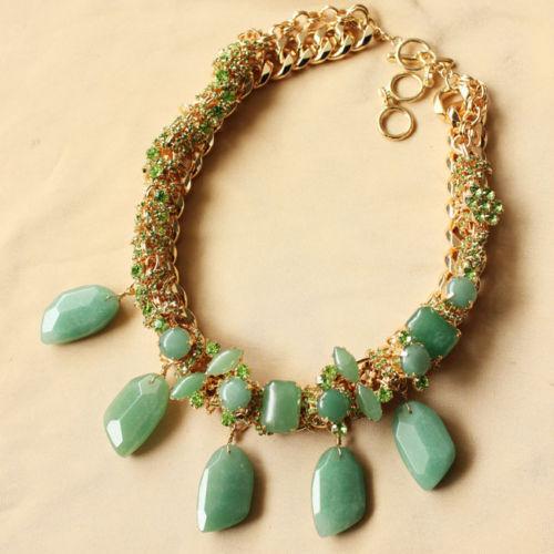 Costume Fashion Necklace CHOKER Green Aventurine Stone Gift Wedding Events JCR13