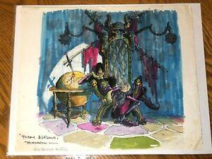 Wizards (1977) Gray Morrow original art Ralph Bakshi Blackwolf * cel animation