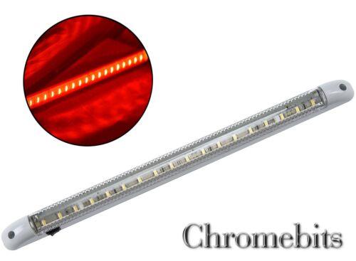 Marine Rot LED 12 Volt Streifen Innenraum Lampe bar Boot Wohnmobil Neu