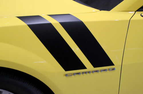 Vinyl Decal Wrap Kit HOOD HASH TAGS for Chevy Chevrolet Camaro 2010-2015 BLACK