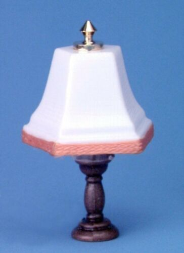 Dollhouse Miniature House Table Lamp White MH646