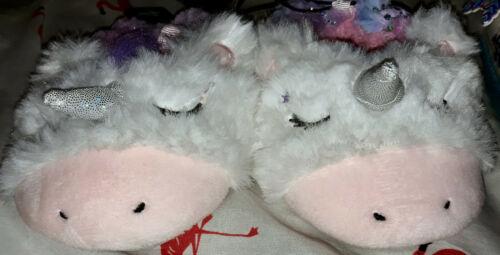 NEW Wonder Nation Birthday Sleepover Unicorn Slipper Pink//Blue Child Size 4