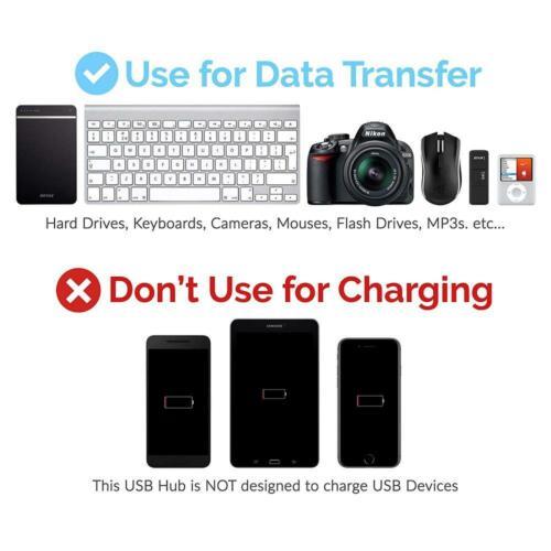 Sabrent 4-Port USB 3.0 Hub with Individual LED Power