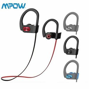 Mpow Bluetooth Earbuds Best Wireless Headphones Running Sports Gym Headset Ebay