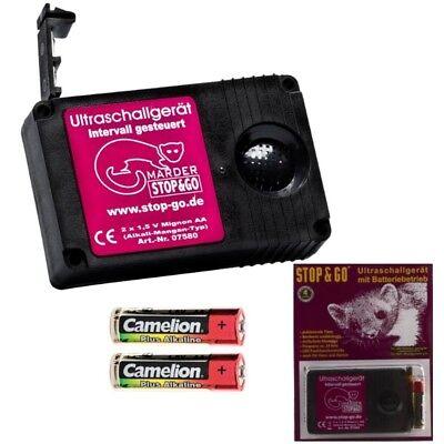 inkl STOP/&GO 07580 Ultraschall Batterieger/ät 2 Batterien