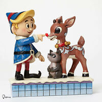 Jim Shore Rudolph Hermey Touching Rudolph's Nose Light Up Figurine 4047939