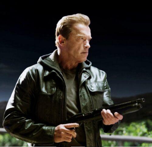 T5 Schwarzenegger nera Genisys Terminator Giacca Arnold 6w8Hqfx5