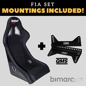 Bimarco-Dakar-FIA-Racing-Seat-BLACK-VELOUR-Set-with-Bracket-Mountings-Included