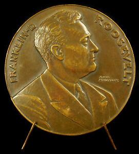 Medalla-Franklin-Delano-Roosevelt-ESTADOS-UNIDOS-Presidente-AGUILA-american-1933