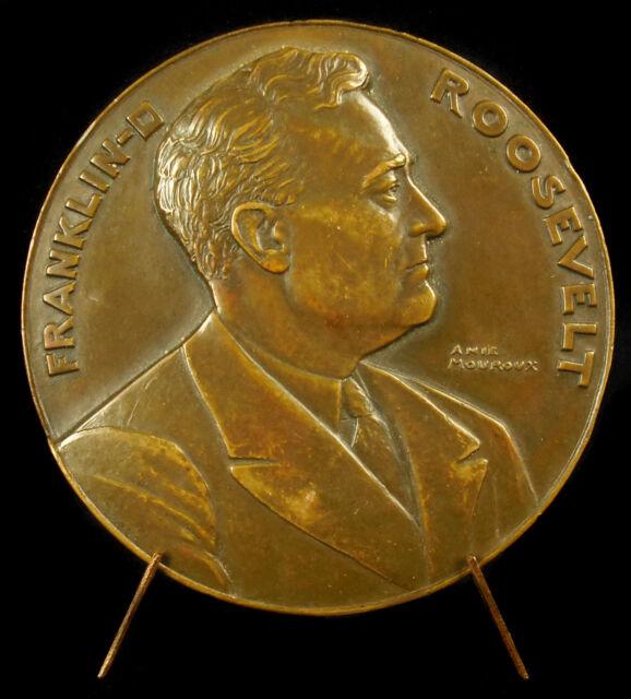 Medalla Franklin Delano Roosevelt ESTADOS UNIDOS Presidente ÁGUILA american 1933