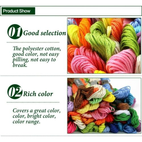 250 Colors Cotton Line Floss Sewing Skeins Cross Stitch Thread Color Embroidery