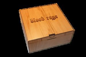 Boîte de rangement Blood Rage avec organisateur assemblé - Lasercut et assemblé!