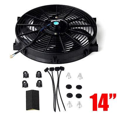 "14/"" Upgrade Universal Slim Electric Radiator Cooling Fan Push Pull 12V 80W Kit"