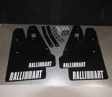 Rallyflapz 4mm PVC Mudflaps Mitsubishi Lancer Ralliart Sportback Black + White