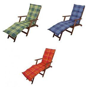 auflage liegest hle deckchair liegestuhl gartenliege liegestuhlauflage polster ebay. Black Bedroom Furniture Sets. Home Design Ideas