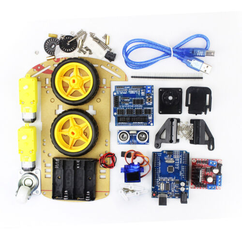 2WD Robot Motor Smart Car Auto Chassis Roboter Speed Encoder Kit Arduino MCU